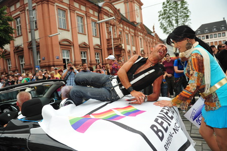 gay parade: Mannheim, Germany - August 8, 2009 - Gay parade in city of Mannheim Germany