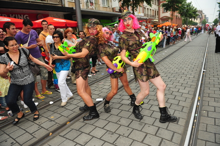 transsexual: Mannheim, Germany - August 8, 2009 - Gay parade in city of Mannheim Germany