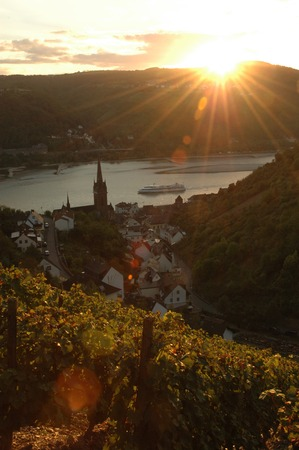 rheintal: Lorchhausen Lorch with river rhine