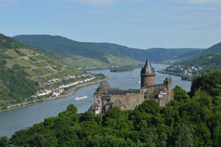 unesco: Castle Stahleck with river rhine Unesco world heritage