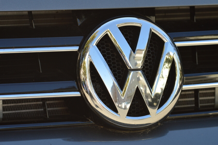 vw: Wolfsburg, Germany - September 28, 2015 - Volkswagen VW cheating in tests for pollution and emissions of its diesel motor in the us Editorial