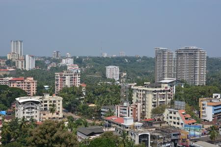 south india: Mangalore, India - October 25, 2015 - Airial of Mangalore, South India