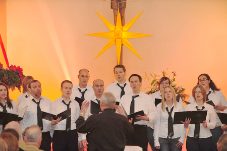Frankfurt, Germany - December 12, 2010 - Christmas concert in church as german tradition during christmas time