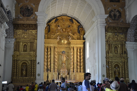 se: Goa, India - October 22, 2015 - Se cathedral in Goa