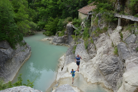 Hum, Croatia - June 14, 2017 - River Mirna in Istria, Croatia Editorial