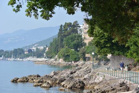 croatian: Opatija, Croatia - June 16, 2017 - Lungomare promenade near Opatija
