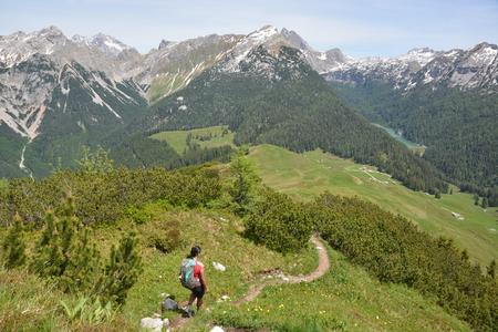 Ramsau, Germany - June 8, 2017 - Beautiful Kallbrunnalm in Austrian Alps
