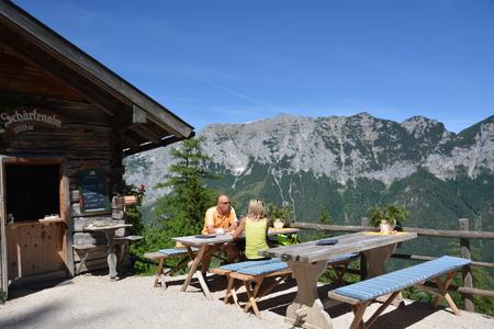 Ramsau, Germany - June 9, 2017 - Picnic in german Alps Editorial