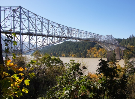 Brug van de goden over de Columbia River Stockfoto