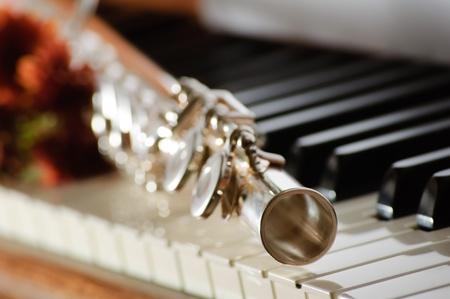 フルート ピアノのための花を置くこと