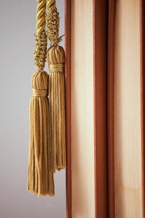 tassles: Books and tassle Stock Photo