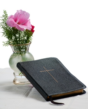 hymn: Hymnal with flower