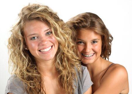 braces: Two happy girls