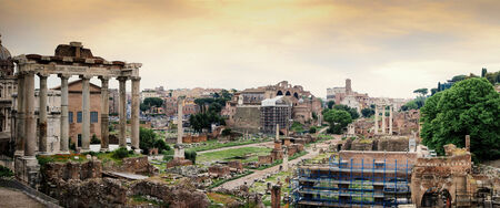 obelisc: Forum Romanum in Roma, Italy