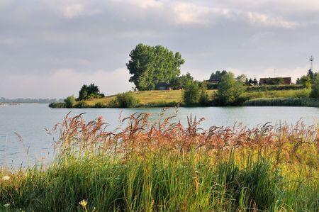 Quarry pond Stock Photo