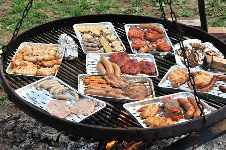 broiling: bbq Stock Photo