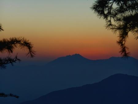 sunset view at chakrata uttarakhand, india Stock Photo