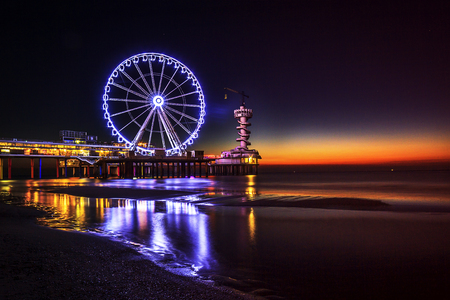 scheveningen: Pier, Scheveningen, The Netherlands Stock Photo