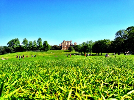 Wollaton Hall in the sunshine