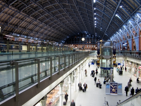 international rail terminal at Saint Pancras in London, England  Editorial