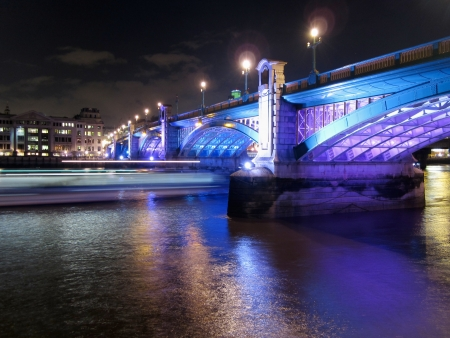 A view of southwark bridge and Thames - London         photo