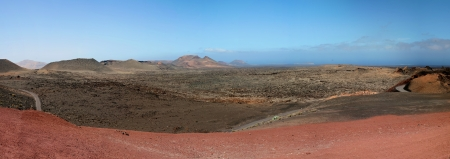 View of the Timanfaya national park, Lanzarote, Spain. photo