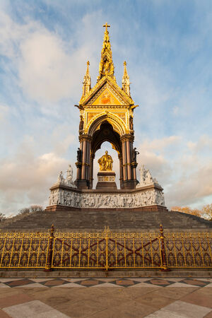 Albert memorial in Kensington gardens, Hyde Park, London   photo