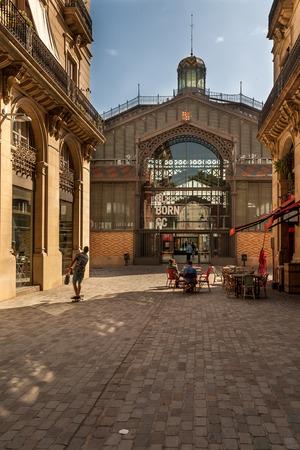El Born street and market, Barcelona, Spain