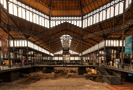 gotico: Centro cultural del mercado de El Born, Barcelona, ??Cataluña, España