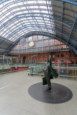 eurostar: St. Pancras International Station in London