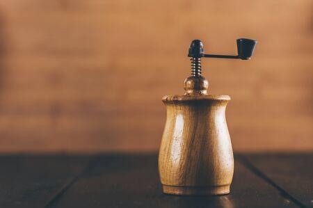 pepper grinder: old pepper grinder on the table