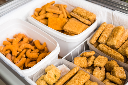 freezer: Frozen fish and fish products in the freezer