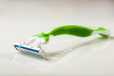 The razor on white background - studio shoot Stock Photo