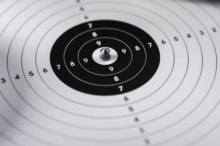 lead shots with a sharp tip are bullets for an airgun Stock Photo