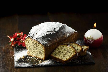 Christmas cake with poppy seed - pie