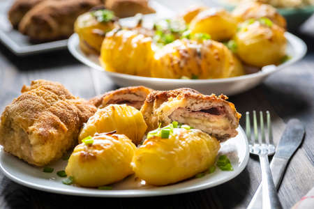 hasselback potatoes - a simple and tasty dish