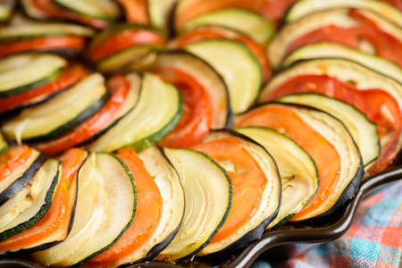 Ratatouille - a dish for vegetarians - Mediterranean cuisine Stock fotó