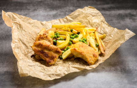 Fish and chips - often used food from British pubs