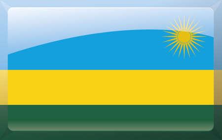 Rwanda flag Illustration