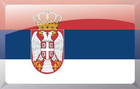 serbien: Serbien-flag