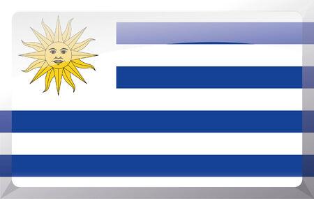 Uruguay flag: Bandera de Uruguay Vectores