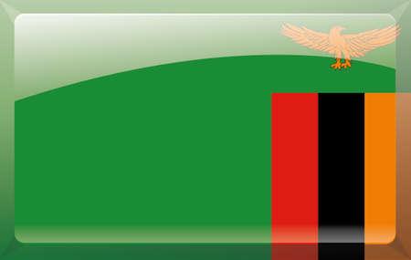 zambia: Zambia flag Illustration