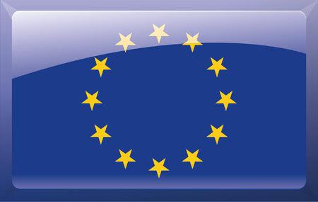 Europe button Stock Vector - 27685214