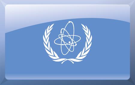treaty: International Atomic Energy Agency Flag Illustration