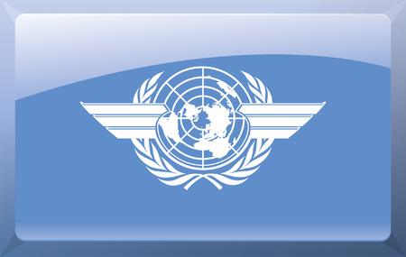 International Civil Aviation Organization Flag Stock Vector - 27699857