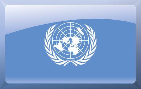 nações: Bandeira das Nações Unidas Ilustração