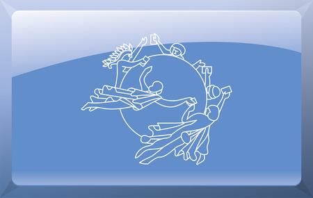 Universal Postal Union Flag Stock Vector - 27699858