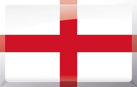 Flag of England, St Georges Cross Illustration
