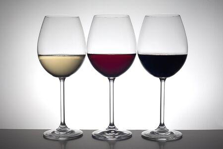 Three wine glasses Standard-Bild