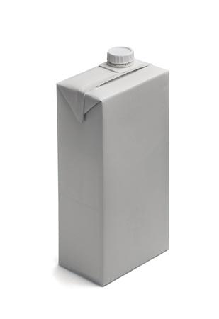 Isolated blank milk box
